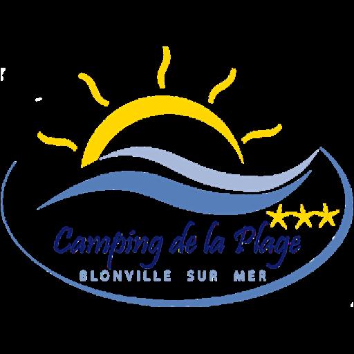 Logo camping de la plage